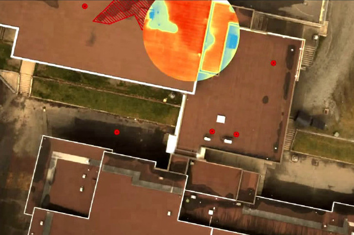 commercial drone roof inspections with infrared camera